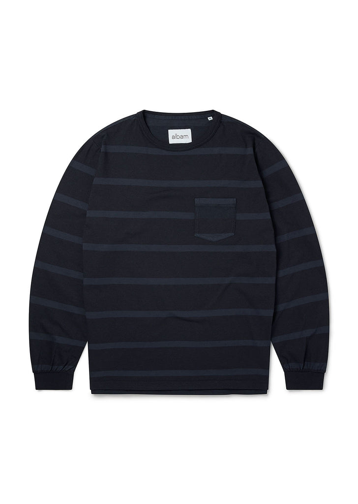 Whelan Long Sleeve T-Shirt in Navy