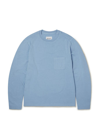 Workwear Long Sleeve Tee in Light Blue