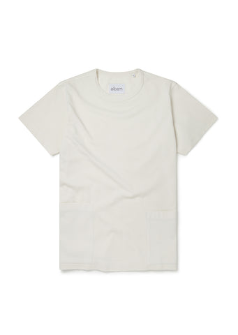 Patch T-Shirt in Ecru