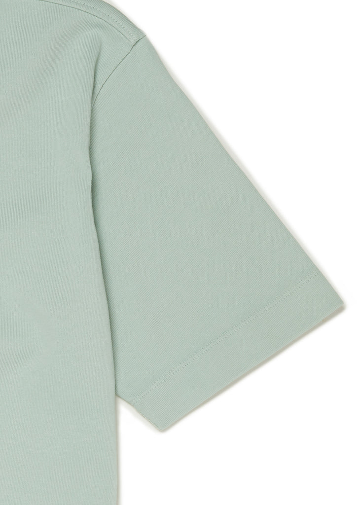 Patch T-Shirt in Faded Jade