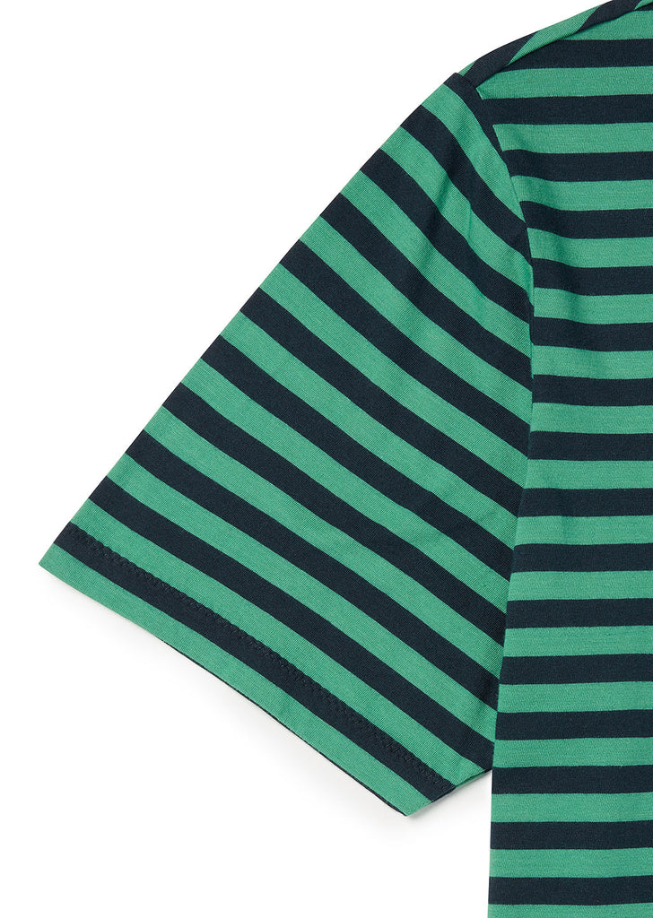 Classic Stripe SS T-Shirt in Fern Green