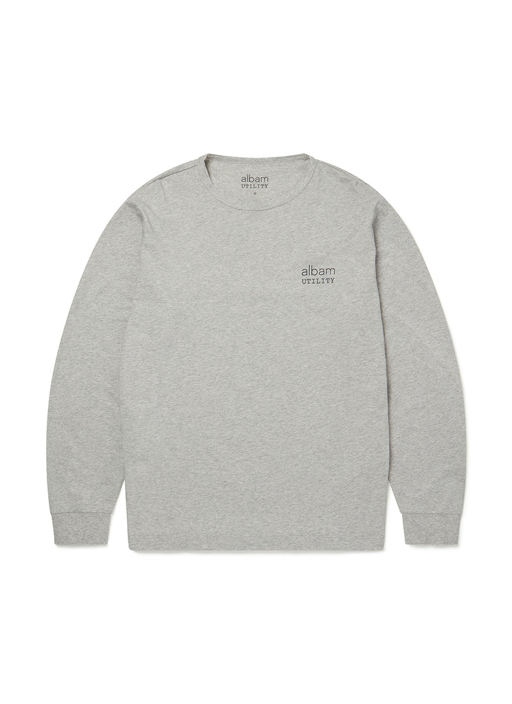 Utility Ls Graphic T-Shirt in Grey Marl