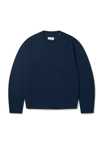 Workwear Long Sleeve Tee in Navy
