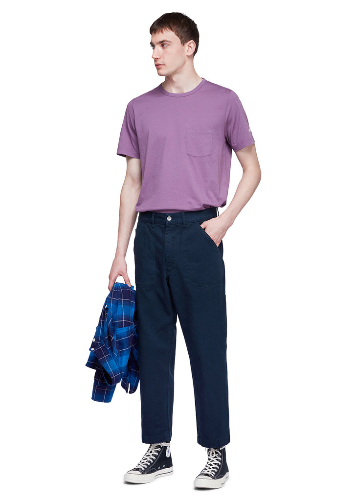 Utility Pocket T-Shirt in Purple