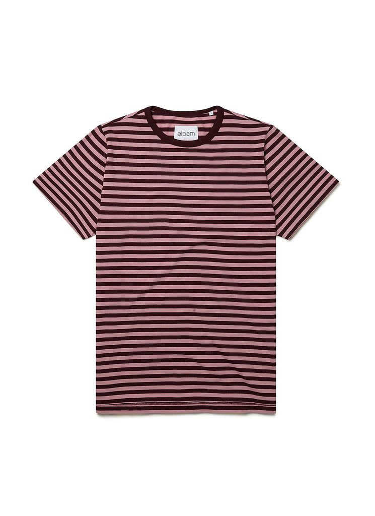 Fletcher Stripe T-Shirt in Port