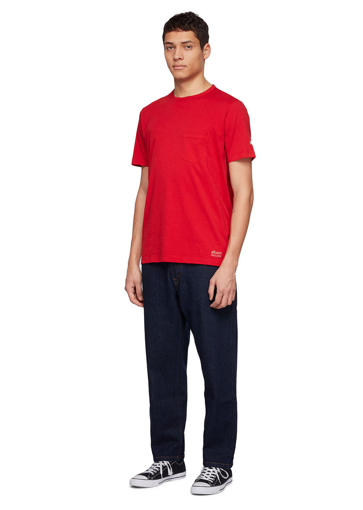 Utility Pocket T-Shirt in Berry
