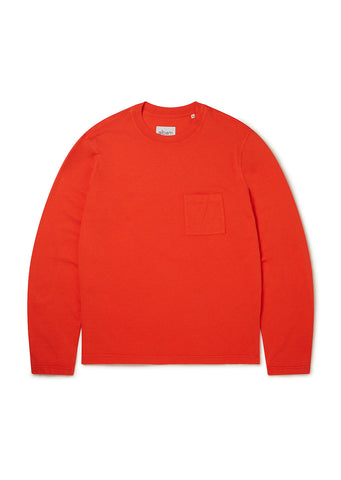 Workwear Long Sleeve Tee in Red