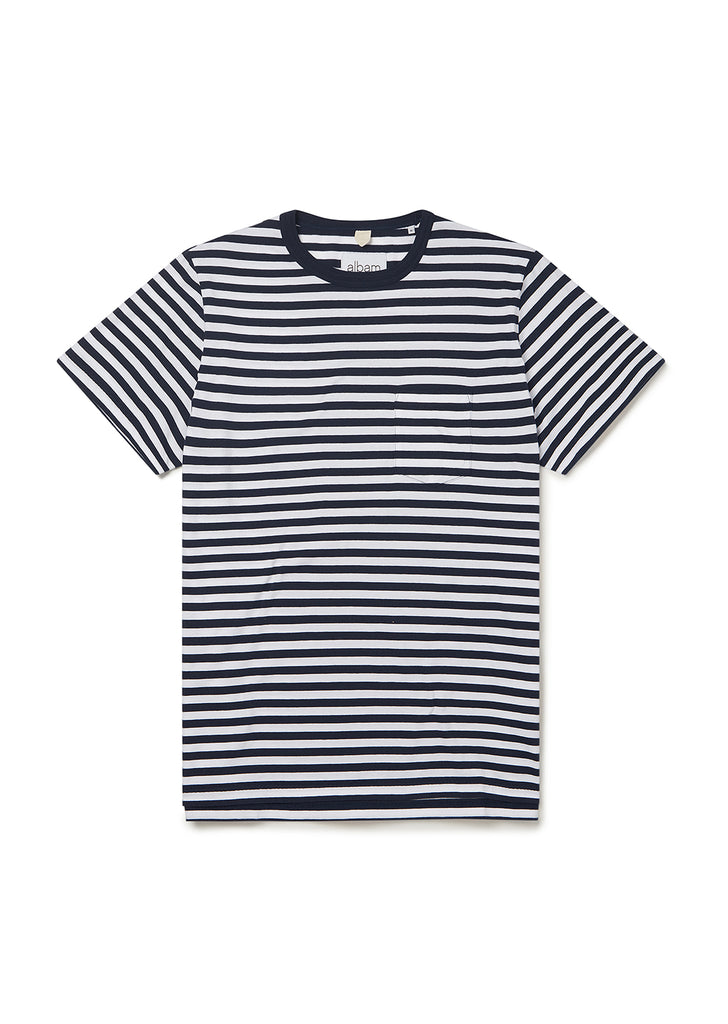 Classic Stripe SS Tee in Navy/White