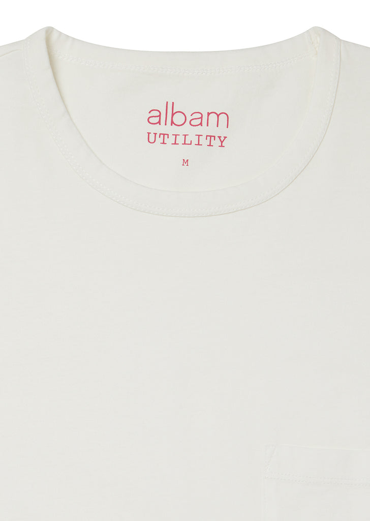 Utility Pocket T-Shirt in White