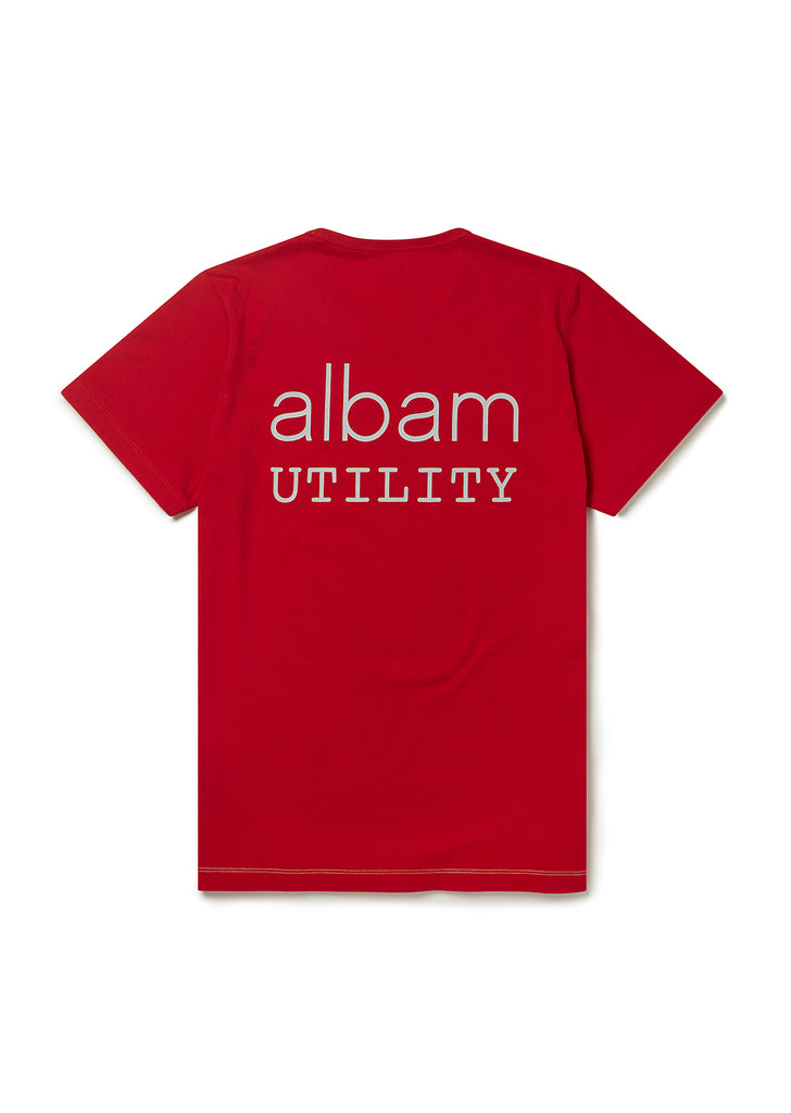 Utility Graphic T-Shirt A in Berry