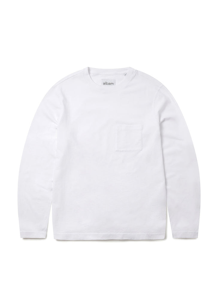 Workwear Long Sleeve Tee in White