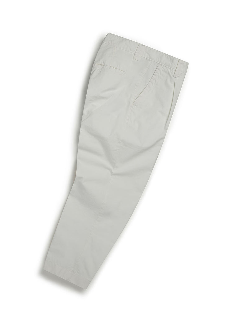 Gd Ripstop Pleated Trouser in Ecru