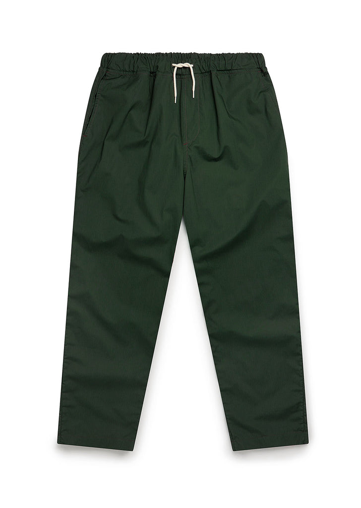 Cotton Ripstop Drawstring Trouser in Green