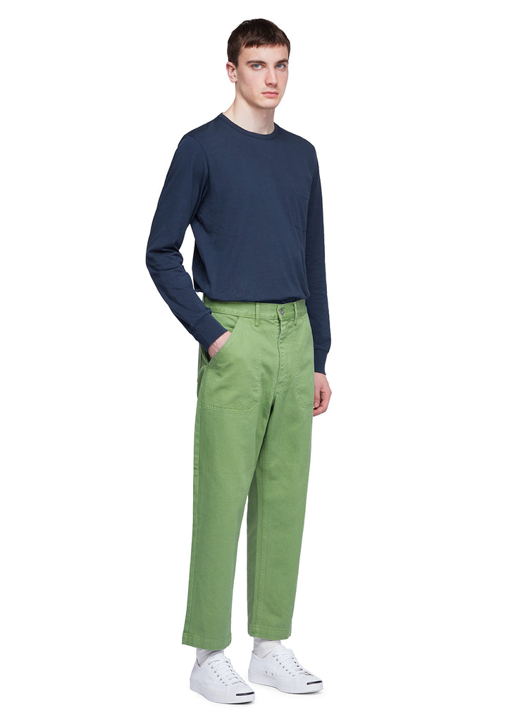 Utility Slim Work Trouser in Green