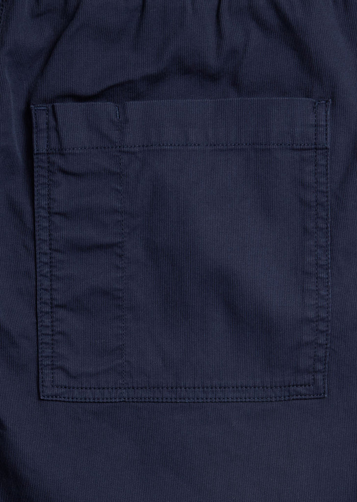 Trent Drawstring Trouser in Rich Navy
