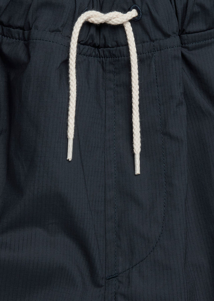 Cotton Ripstop Drawstring Trouser in Navy