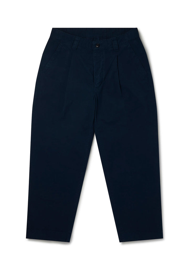 Gd Ripstop Pleated Trouser in Navy