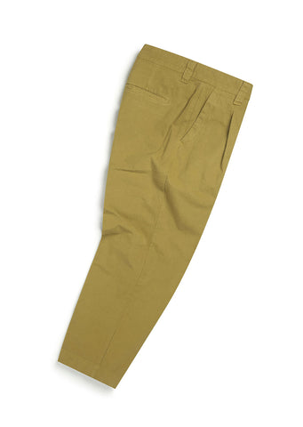 Gd Ripstop Pleated Trouser in Tobacco