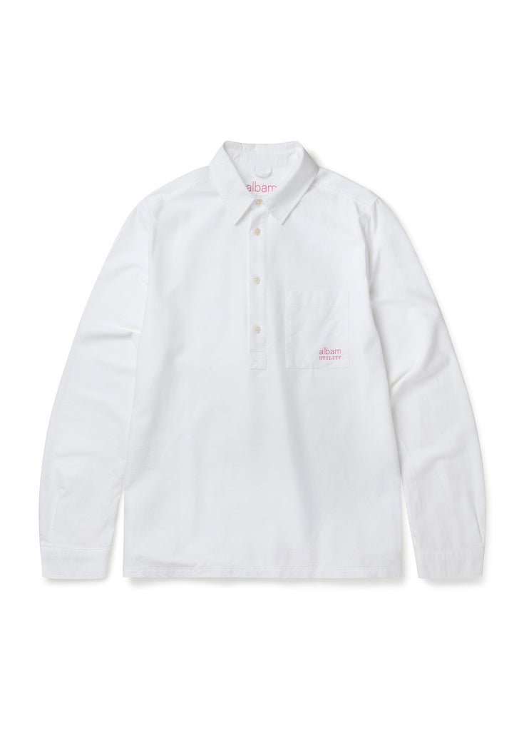 Utility LS Pullover Shirt in White