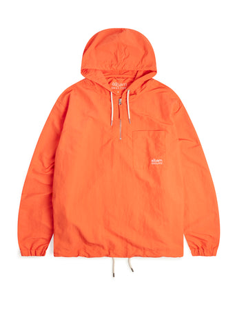 Utility Nylon Hooded Overshirt in Orange