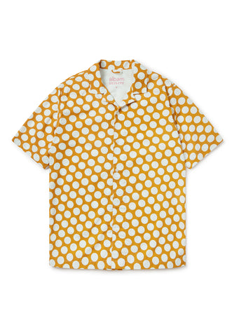 Utility Polka Dot Shirt In Dark Orange/Ecru