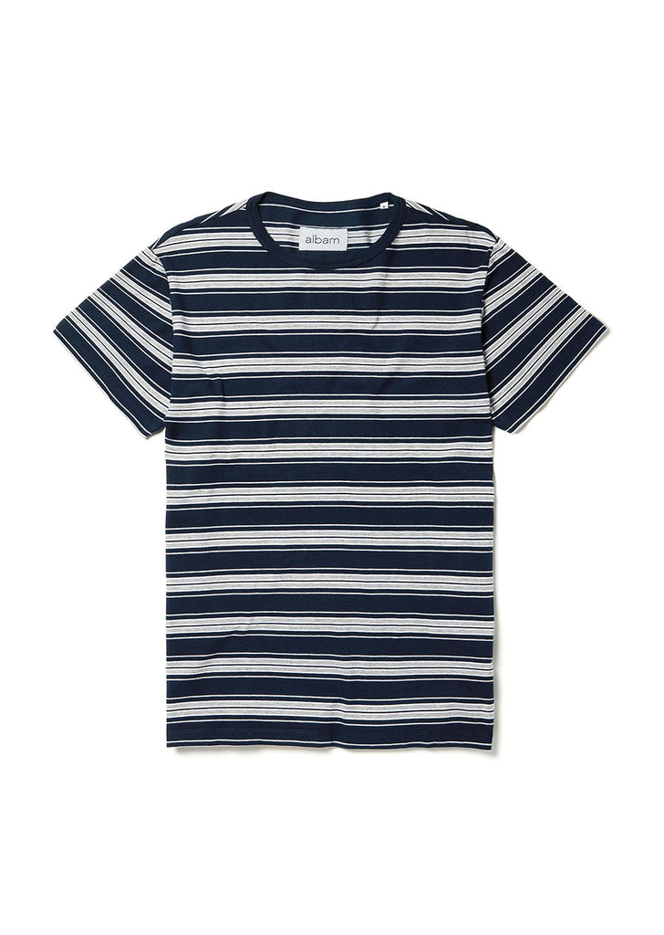 Vintage Stripe T Shirt in Navy