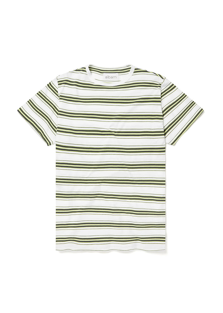 Vintage Stripe T Shirt in White