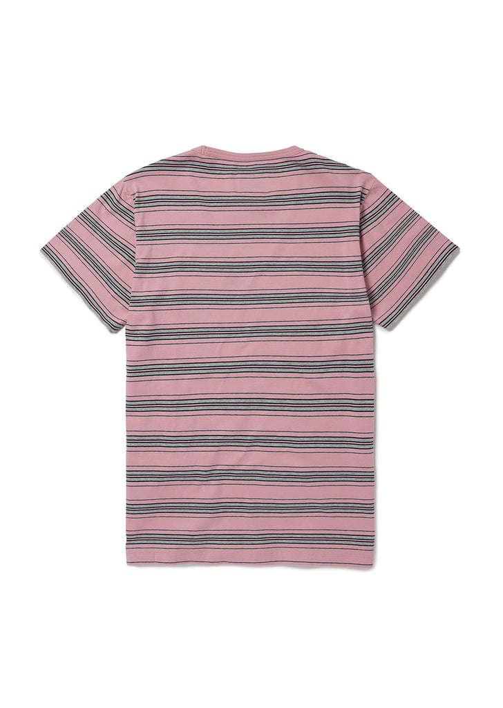 Vintage Stripe T Shirt in Dusty Cedar