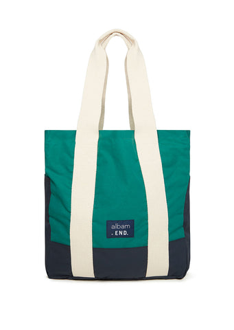 Albam X End Fishermans Tote in Green