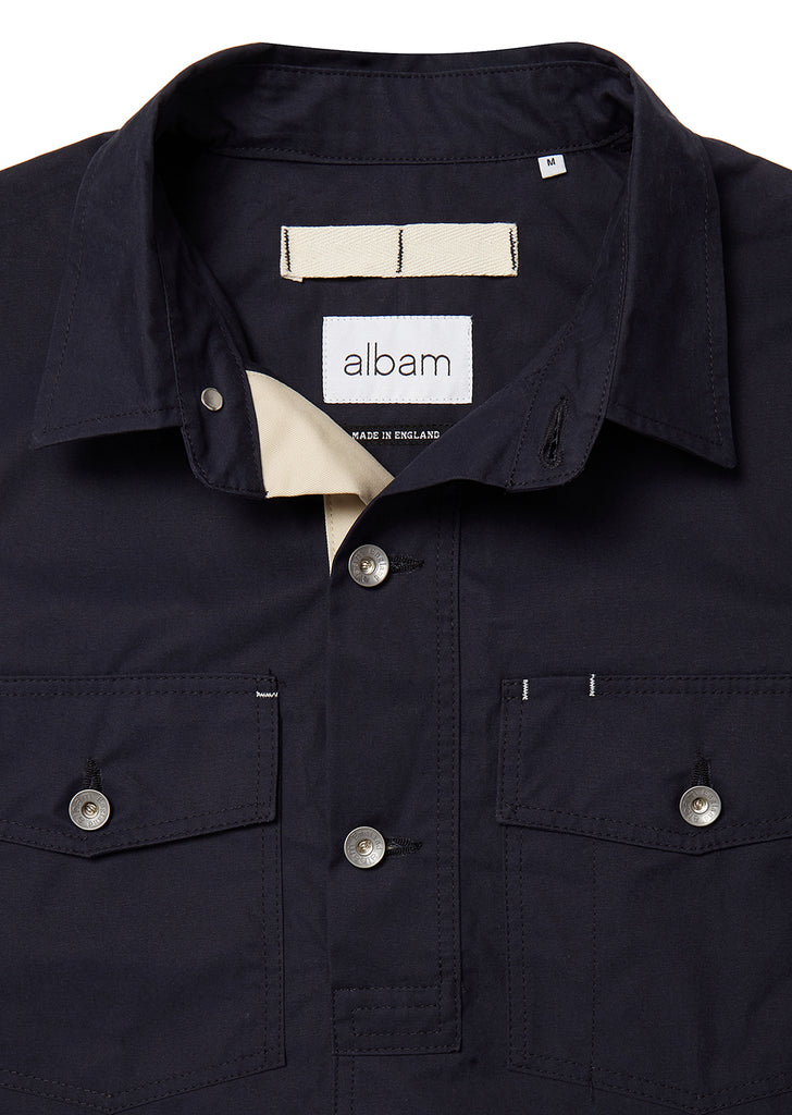 Mechanics Coverall Shirt in Dark Navy