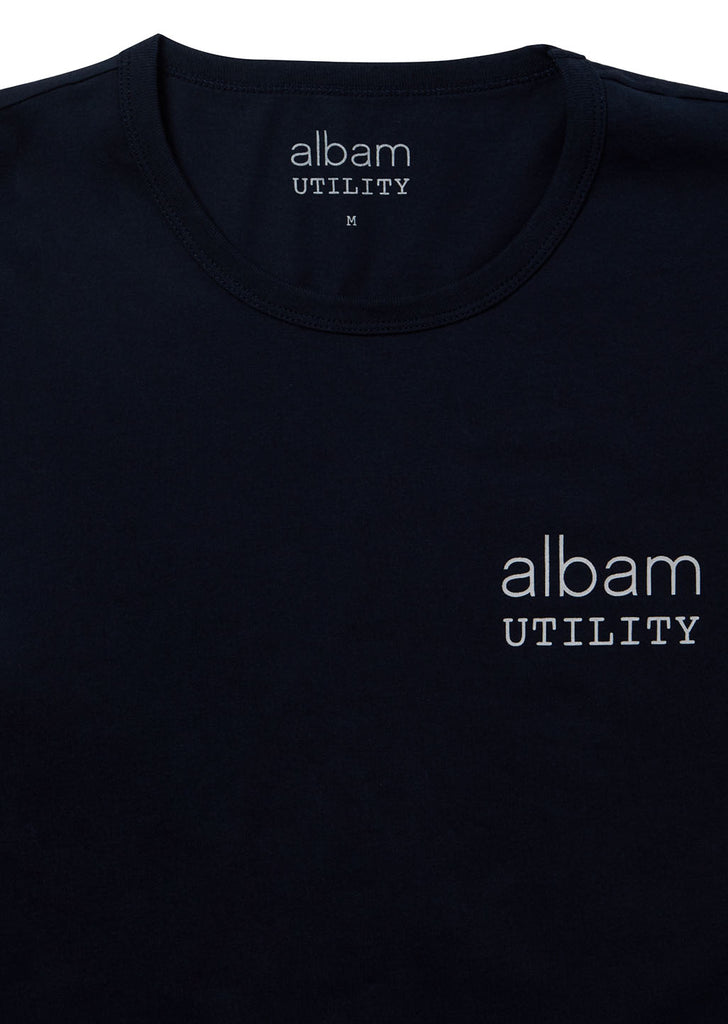 Utility Front Print T-Shirt in Navy
