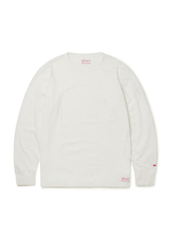 Utility Long Sleeve T-Shirt in White
