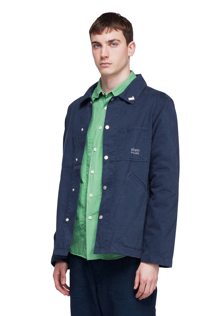 Utility Twill Factory Work Jacket in Navy