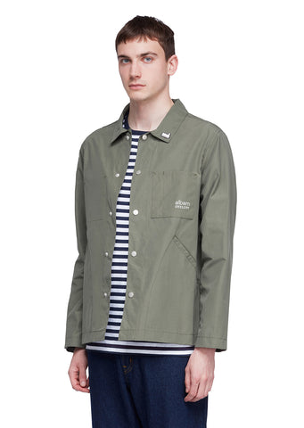 Utility Cotton Poly Work Jacket in Green
