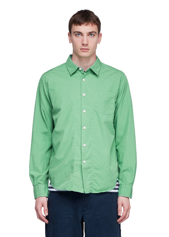 Utility Classic Poplin Shirt in Green