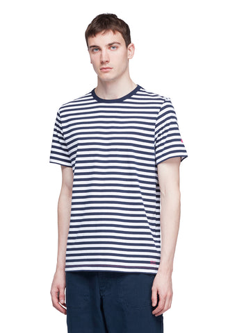 Utility Engineered Stripe T-Shirt in Navy