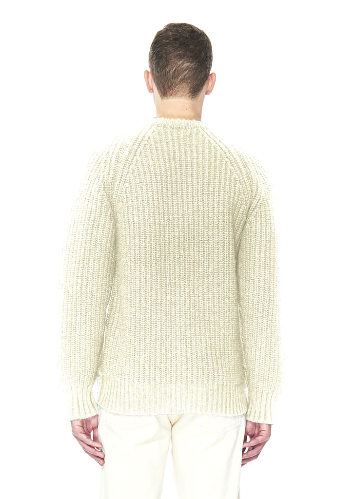 Chunky Ribbed Crew Neck in Ecru