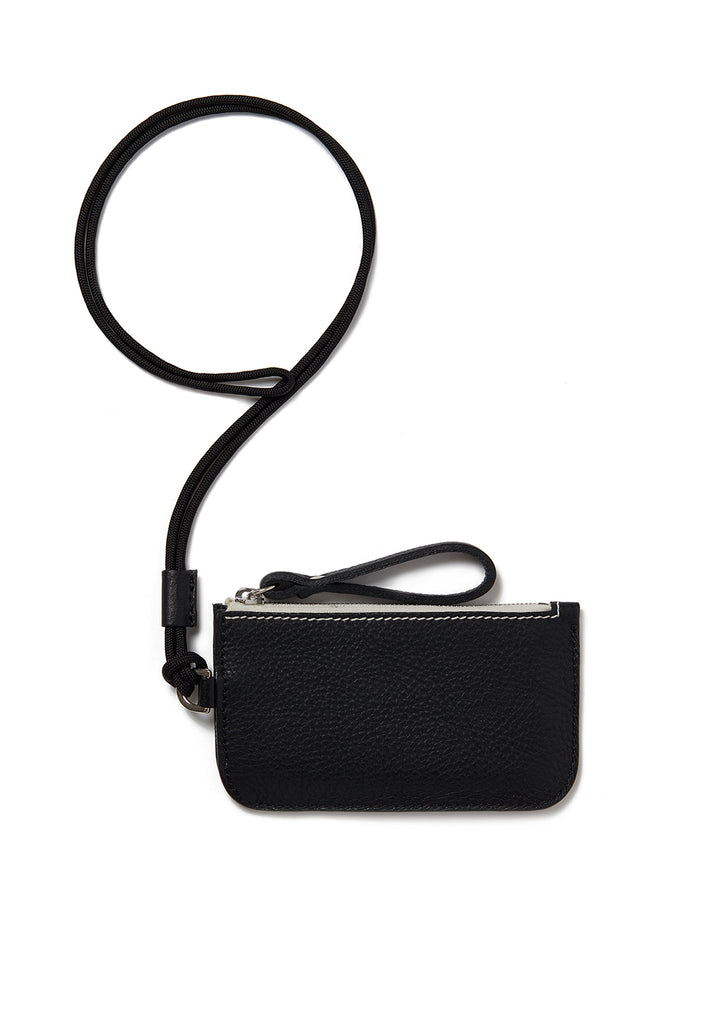 Campbell Cole x Albam Coin Pouch with Lanyard in Black