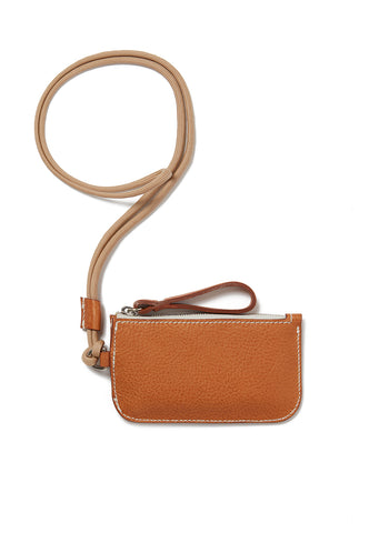 Campbell Cole x Albam Coin Pouch with Lanyard in Tan