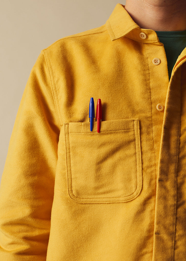 Moleskin Duncan Overshirt in Yellow