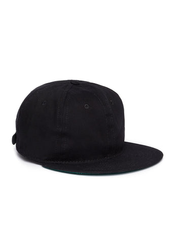Ebbets Unlettered Cotton Cap in Black