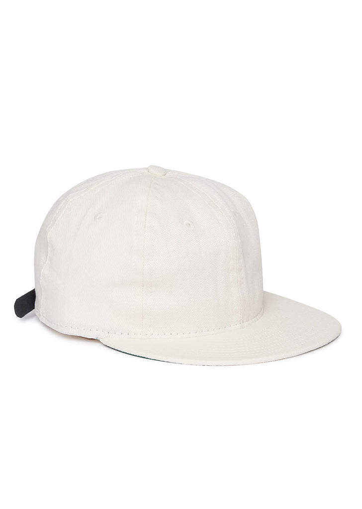 Ebbets Unlettered Cotton Cap in Off White
