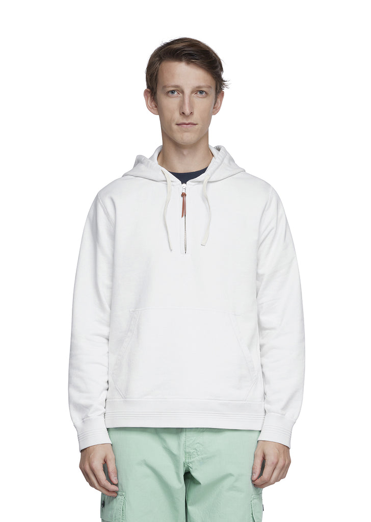 Hooded Sweatshirt in Ecru