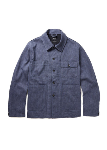 Mechanics Jacket in Light Blue Herringbone