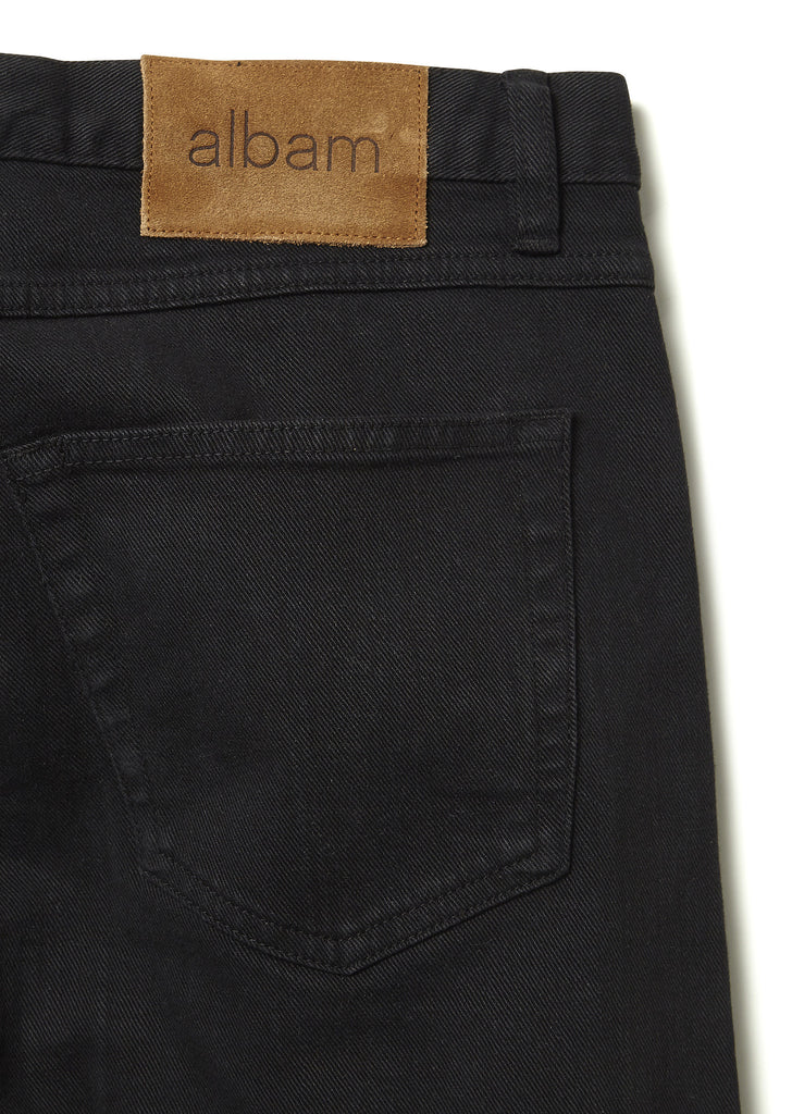 Regular Fit Selvedge Jeans in Black