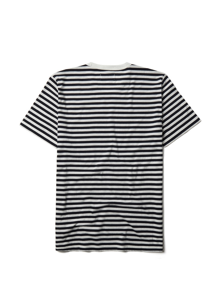 Classic Striped T in Navy