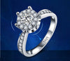 White Gold Plated Engagement Ring with AAA Austrian Crystals - DesignIN