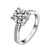 White Gold Filled Engagement Ring With Brilliant AAA Cubic Zirconia - DesignIN