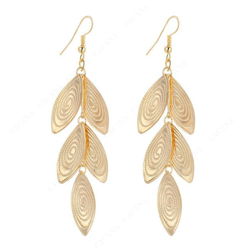 18k Gold Plated or Platinum Plated Oval Diskettes Drop Earrings - DesignIN