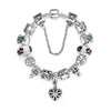 Silver Charm Braceletswith High Quality Murano Glass Beads - DesignIN